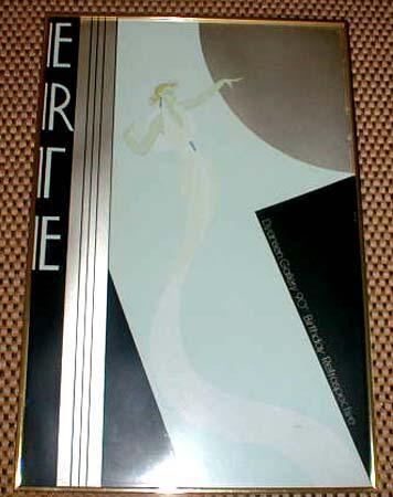 Vintage Dyansen Gallery Framed Erte Art Deco Print