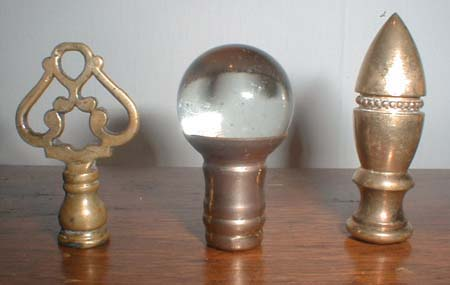 Vintage Brass and Crystal Lamp Finials @ Collectics Antiques and ...